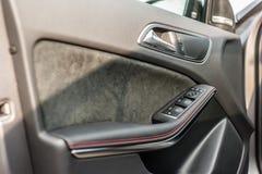 Roemenië, Brasov-16 Sept., 2014: Het binnenland van Mercedes-Benz A 45 2014 AMG Royalty-vrije Stock Afbeelding