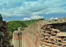 Roemenië, ruïneskasteel van Dracula stock afbeelding