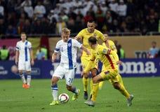 Roemenië versus Finland Royalty-vrije Stock Afbeeldingen