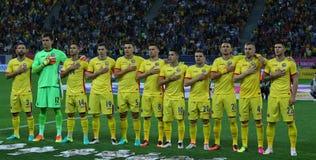 Roemenië versus Luxemburg (het Europese Kampioenschap van UEFA, dat rond kwalificeert) Piatra Neamt (Roemenië), op 29 maart 2011  Stock Foto's