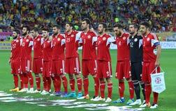 Roemenië versus Luxemburg (het Europese Kampioenschap van UEFA, dat rond kwalificeert) Piatra Neamt (Roemenië), op 29 maart 2011  Stock Foto