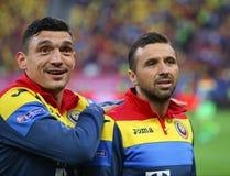 Roemenië versus Luxemburg (het Europese Kampioenschap van UEFA, dat rond kwalificeert) Piatra Neamt (Roemenië), op 29 maart 2011  Stock Afbeelding