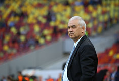 Roemenië versus Luxemburg (het Europese Kampioenschap van UEFA, dat rond kwalificeert) Piatra Neamt (Roemenië), op 29 maart 2011  Stock Fotografie