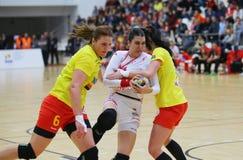 Roemenië versus Luxemburg (het Europese Kampioenschap van UEFA, dat rond kwalificeert) Piatra Neamt (Roemenië), op 29 maart 2011  Royalty-vrije Stock Foto's