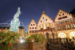Roemer the old town of Frankfurt at night Royalty Free Stock Images