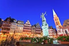 Roemer oude stad van Frankfurt Stock Foto's