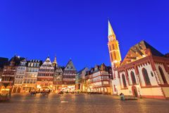 Frankfurt. The Roemer place old town of Frankfurt, Germany stock image