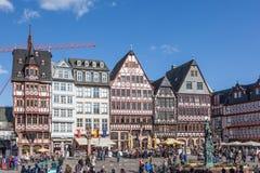 Roemerberg kwadrat w Frankfurt magistrali Fotografia Royalty Free