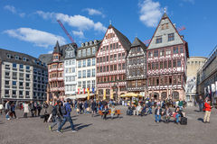 Roemerberg kwadrat w Frankfurt magistrali Zdjęcia Stock