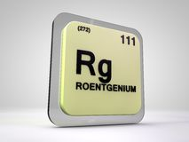 Roentgemium - Rg - chemical element periodic table Royalty Free Stock Image