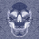 Roentgen effect skull Royalty Free Stock Images