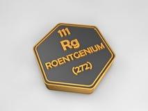 Roentgenium - Rg - chemical element periodic table hexagonal shape Stock Photography
