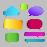 Roep praatje vector 3d teken uit Stock Fotografie
