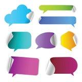 Roep praatje vector 3d teken uit Stock Foto's