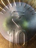 10 Roepies Indisch muntstuk Stock Fotografie
