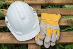 Roer en handschoen Royalty-vrije Stock Afbeeldingen