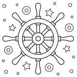 roer Kleurende pagina Vector illustratie Royalty-vrije Stock Foto