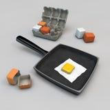 Vierkante eieren Royalty-vrije Stock Afbeeldingen