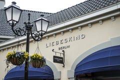 Roermond Netherlands 07.05.2017 Liebeskind designer Handbag Store Logo at the Mc Arthur Glen Designer Outlet shopping Royalty Free Stock Image