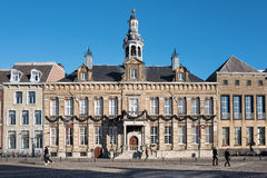 Roermond town hall. Festive decorated royalty free stock photo