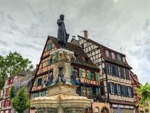 Roesselmann fountain, Colmar, France Royalty Free Stock Images