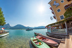 Roesslterrace, Wolfgangsee Stock Photography