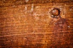 Roest Bevlekt Beton met gat Stock Afbeelding