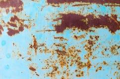 Roest blauwe metaalachtergrond royalty-vrije stock foto
