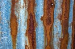 Roest en bevlekt met oude muurtextuur royalty-vrije stock afbeelding