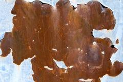 Roest en schil blauwe verf Stock Foto's
