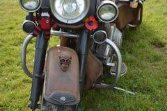 Roest gekleurd Harley Davidson royalty-vrije stock afbeeldingen