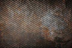 Roest hexagon achtergrond en textuur vector illustratie