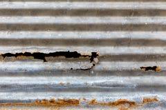 Roest op de achtergrond van de zinktextuur stock fotografie