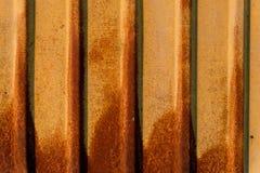 Roest op geel golfijzer Royalty-vrije Stock Foto