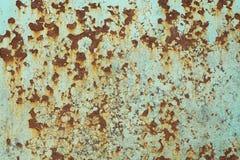 Roest op het geschilderde metaalblauw Royalty-vrije Stock Foto