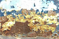 Roest op staal Stock Fotografie