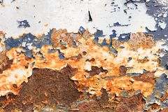 Roest op staal Stock Afbeeldingen