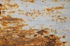 Roest op staal met wit Stock Foto's