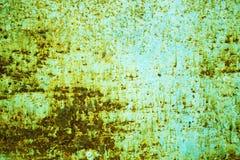 Roestachtergrond op blauwe staalplaat voor grafisch ontwerp stock foto