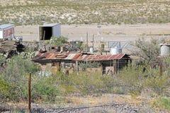 Roestende landbouwbedrijfgebouwen, New Mexico Royalty-vrije Stock Fotografie