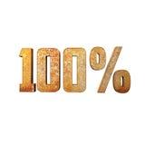 100% Roestende Metaal 3D Tekst Stock Fotografie