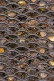 Roestig cellulair metaalblad stock foto's