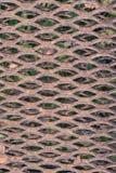 Roestig cellulair metaalblad stock afbeeldingen