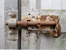 Roestig deurslot Stock Afbeelding