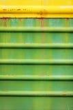 Roestig en kleur gekrast van oude wagen stock foto