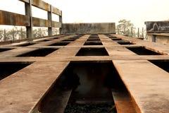Roestig metaal, verlaten voertuigobjecten textuur stock fotografie