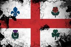 Roestig Montreal en grunge vlagillustratie vector illustratie