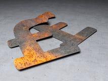 Roestig pond Sterling, vector illustratie