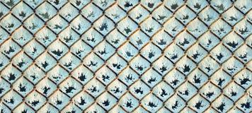 Roestig rooster met rijpachtergrond, panorama Stock Fotografie