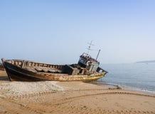 Roestig schip Royalty-vrije Stock Foto